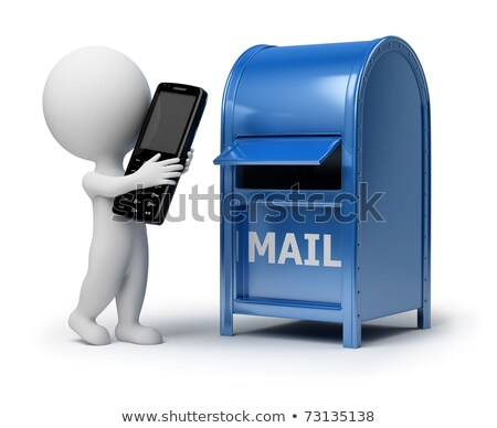 3d small people   mailing a phone stock photo © anatolym