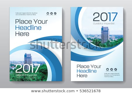 Annuel rapport affaires brochure bleu couleur Photo stock © SArts