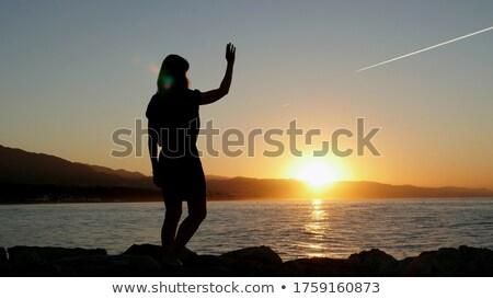 spagnolo · uomo · dancing · Spagna · dance · tramonto - foto d'archivio © adrenalina