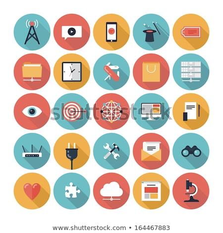 Felhő alapú szolgáltatások ikon terv üzlet izolált illusztráció Stock fotó © WaD