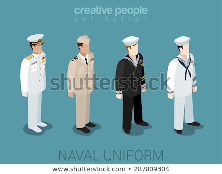 Wojskowych wektora statków infografiki krążownik lądowanie Zdjęcia stock © robuart