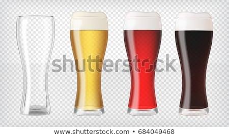 現実的な ビール 眼鏡 赤 空っぽ マグ ストックフォト © pakete