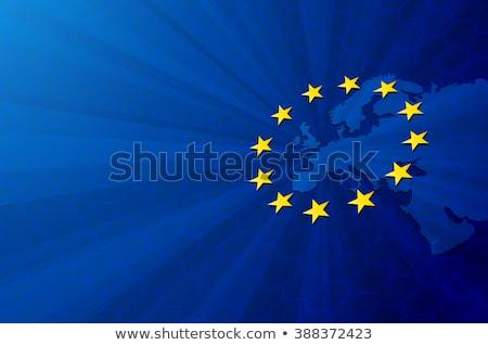 Zászló európai szövetség vektor EU utazás Stock fotó © tkacchuk