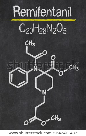 Blackboard with the chemical formula of Remifentanil Stock photo © Zerbor