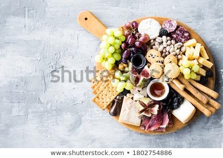камамбер орехи салями фон обеда столовой Сток-фото © M-studio