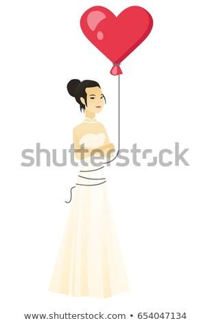 серьезный невеста красный шаре африканских Сток-фото © RAStudio