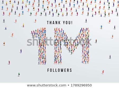 Başarı teşekkür ederim sosyal ağ arka plan pazarlama medya Stok fotoğraf © SArts