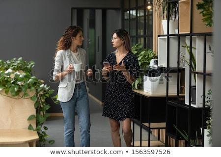 concentrado · colegas · em · pé · escritório · foto · jovem - foto stock © deandrobot