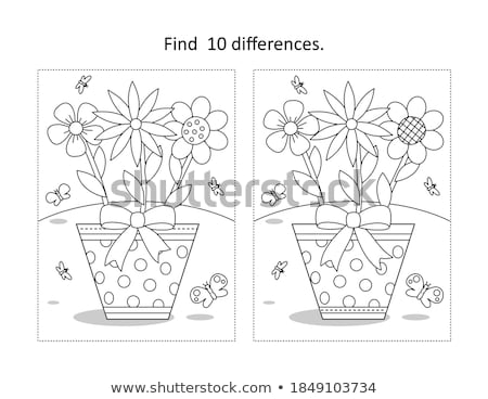 Spot the difference butterfly Stock photo © Olena