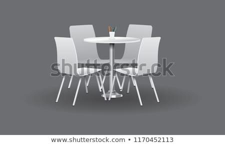 Krzesło tabeli ściany wnętrza architektury vintage Zdjęcia stock © Kidza