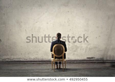 Man staring at blank wall Stock photo © ichiosea