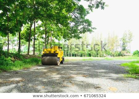 Kicsi teherautó kavicsút Ciprus kék vezetés Stock fotó © Mps197