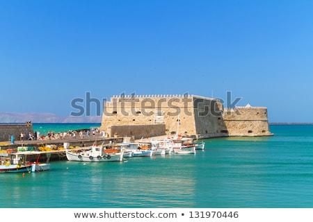 Fortificación veneciano castillo Grecia interior fortaleza Foto stock © FER737NG