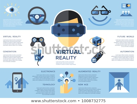 Digital vector virtual augmented reality set collection, next ge Stock photo © frimufilms