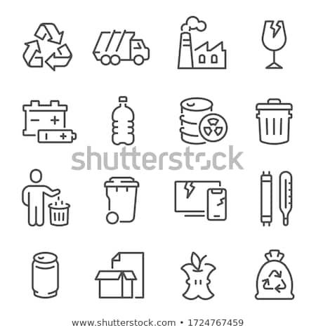 Cartoon · мусорное · ведро · дизайна · мусор · корзины · улыбаясь - Сток-фото © rastudio