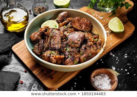 Fried liver stock photo © joker