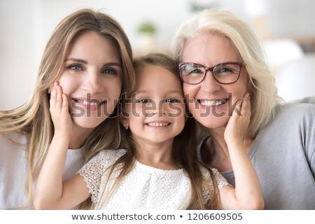 drie · generaties · vrouwen · familie · gras · gelukkig - stockfoto © is2