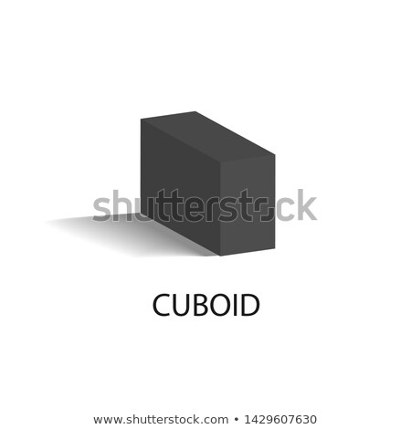 Cuboid Black Geometric Figure that Casts Shade Stock photo © robuart