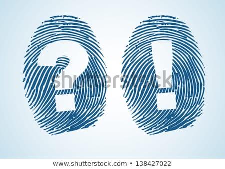 指紋 疑問符 識別 孤立した 現代 技術 ストックフォト © kyryloff