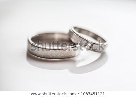 dos · anillos · de · boda · boda · día · negro · vida - foto stock © lightpoet