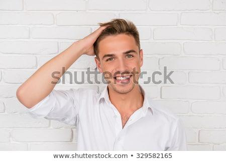 szőke · haj · üzletember · szett · férfiak · vakáció - stock fotó © toyotoyo