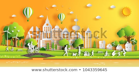 People Saving Nature in City Vector Illustration Stock photo © robuart