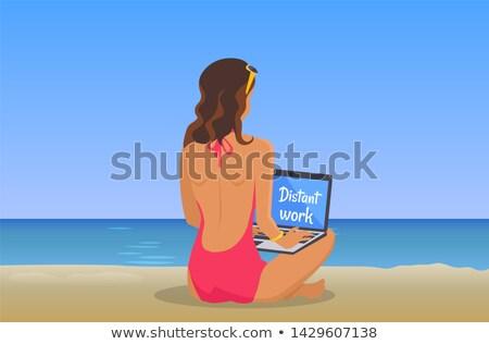 作業 · フリーランス · ポスター · 女性 - ストックフォト © robuart