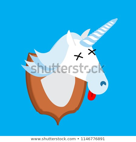 Jäger Trophäe Kopf fantastisch Tier Horn Stock foto © popaukropa