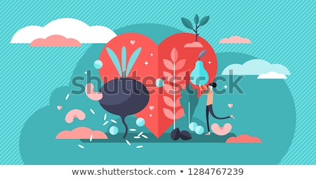 We love vegan food illustration for healthy diet Stock photo © cienpies
