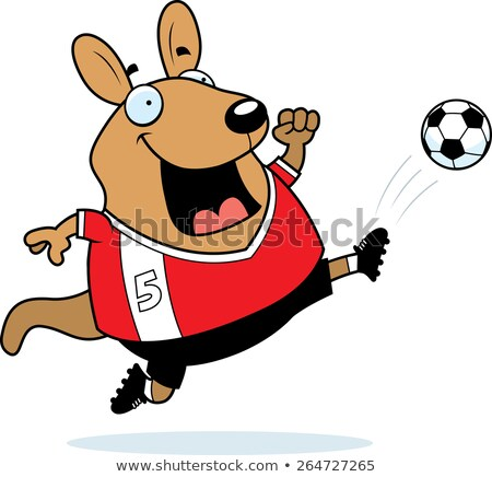 Cartoon Wallaby Soccer Kick Stock photo © cthoman