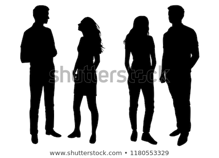 Young Couple People Silhouette Stock photo © Krisdog