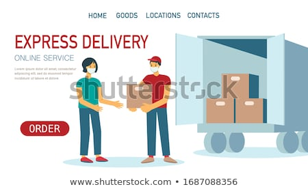 продовольствие · доставки · службе · порядка · огромный · гамбургер - Сток-фото © rastudio