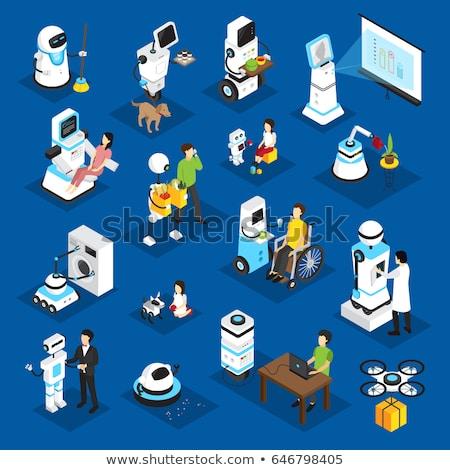 Stock fotó: Takarítás · robot · zöld · szolgáltatás · padló · jövő