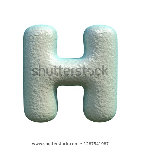 Grey blue clay font Letter H 3D Stock photo © djmilic