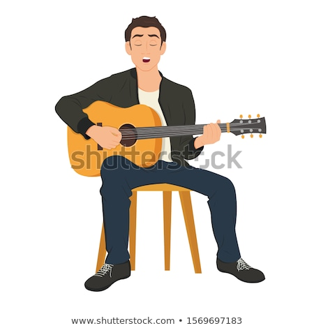 Human Character Singing Song, Solo Artist Vector Stock photo © robuart