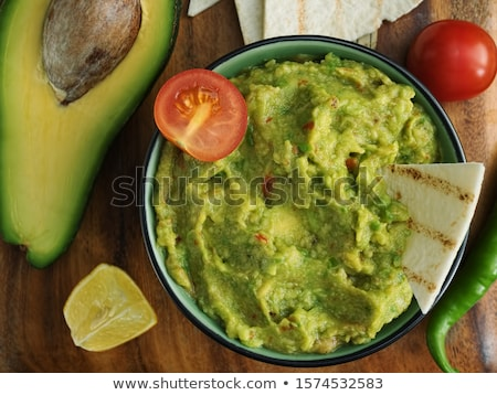 Tartilla with tomatoes and pepper Stock photo © AGfoto