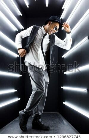 cómico · Cartoon · feliz · hombre · baile · retro - foto stock © studiostoks