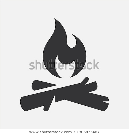 Flat design icon of camping fire  Stock photo © angelp