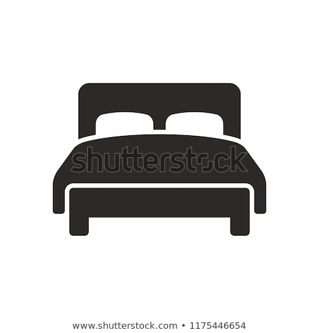 hotel bed icon stock photo © angelp