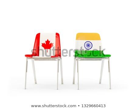 Kettő székek zászlók India Kanada izolált Stock fotó © MikhailMishchenko