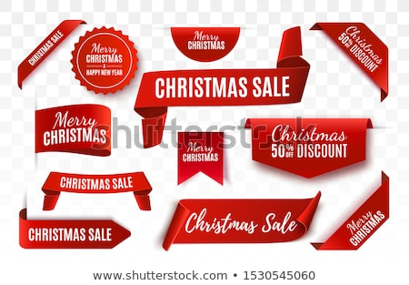 Christmas witte titel lint illustratie decoratief Stockfoto © Blue_daemon