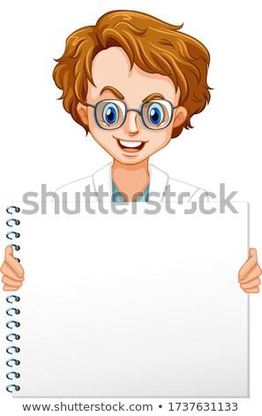 Masculino cientista nota modelo ilustração fundo Foto stock © colematt