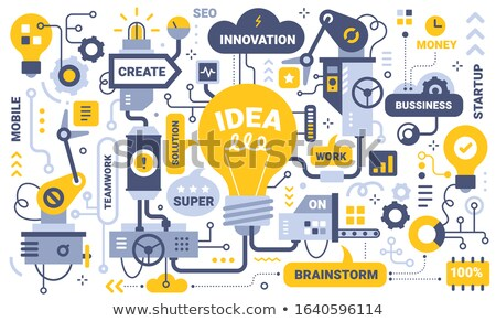 Vector startup process concept creative business illustration with working people.  Foto stock © Giraffarte