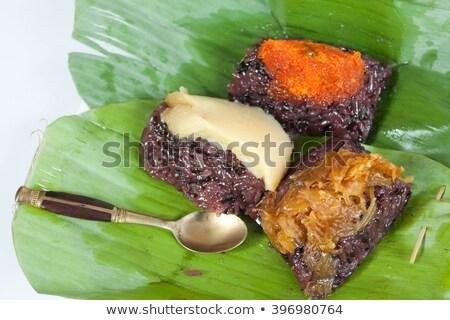 Thai hagyományos desszertek rizs tejsodó banán Stock fotó © dashapetrenko