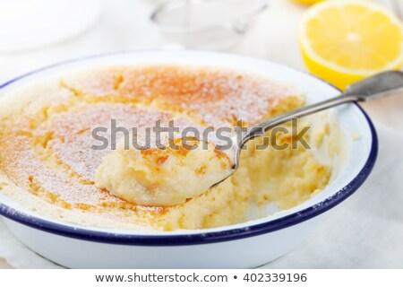 Limon sünger kek restoran kahvaltı yeme Stok fotoğraf © Melnyk