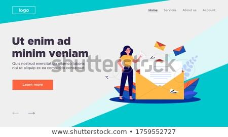 Női hírlevél nyitás boríték vektor nők Stock fotó © robuart