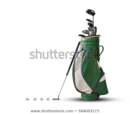 Black Golf Club Wedge Iron and Golf Ball on White Background Stock photo © feverpitch