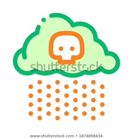 Acid Rain Earth Problem Vector Thin Line Icon Stock photo © pikepicture