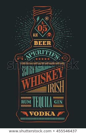 color scotch whisky bottle set vector stock photo © pikepicture