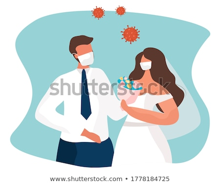 Stockfoto: Bruiloft · planning · bruid · bruidegom · newlywed · paar